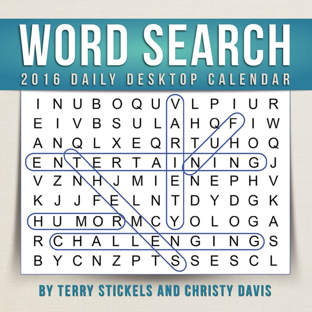 Get Quotations · Word Search Desk Calendar by TF Publishing 2016