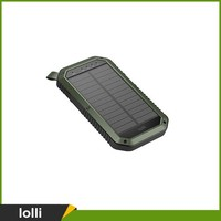 Dual USB 8000mAh Solar Battery Chargers High Capacity Double USB Solar Energy Panel Power Bank for Mobile Phone Tablet Laptop