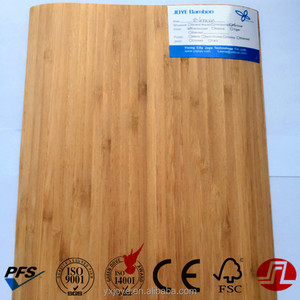 carbonized vertical bamboo wooden veneer with paper back