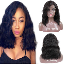 New Product Short Human Hair Wigs for Black Women Brazilian Body Wave Bob Lace Front Wig with Side Part
