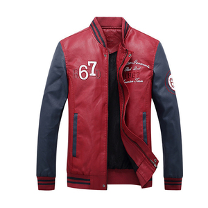 Wholesale Price Man Motorcycle Leather Jacket Latest Design Moto Slim Fit Fashion Leather Jackets For Men Online Shopping