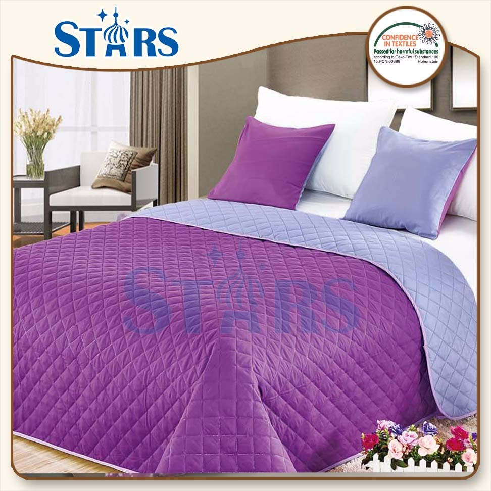 GS-MICRO-01 warm 4piece home used purple king size comforter sets