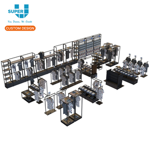 Mdf Wooden T Shirt Display Racks for Garment Retail Shop