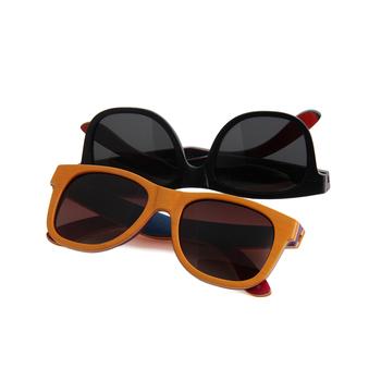 Woodsun skateboard wooden sunglasses polarized fashionable wood sun glasses