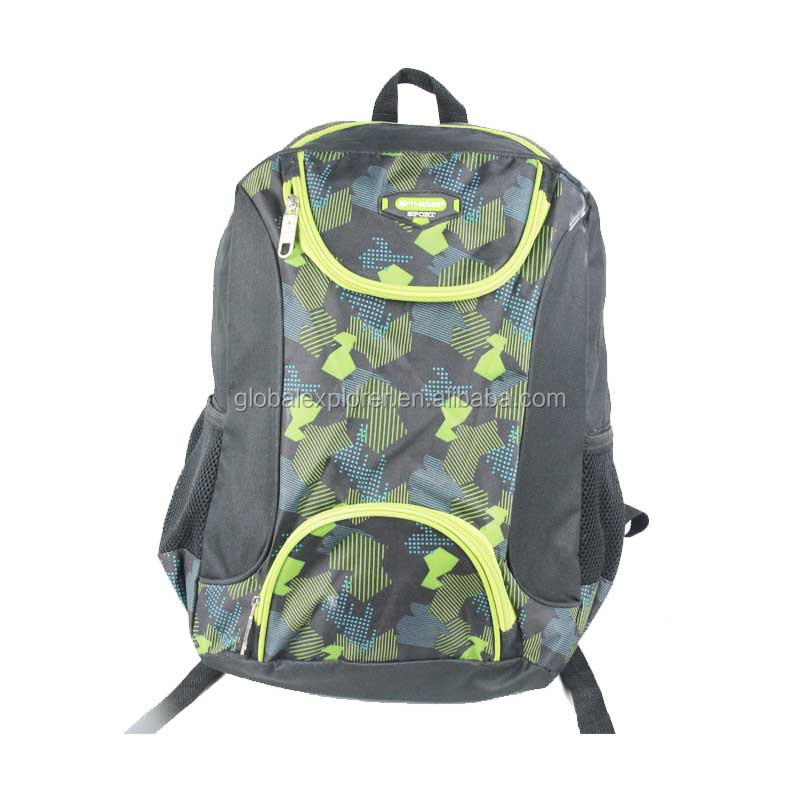 Fashion printed 600D backpack school bag rucksack