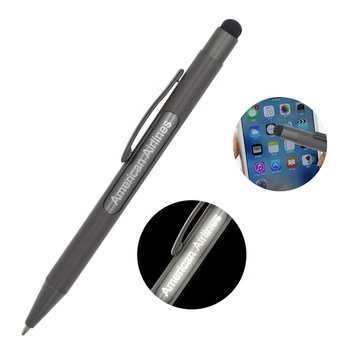 2019 Metal Promotional Stylus Pen Slim Light Pen With Logo Pens With Custom Logo