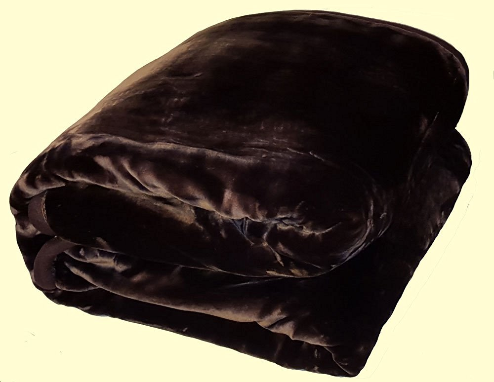 Solaron King Two-Ply Dark Brown Mink Blanket