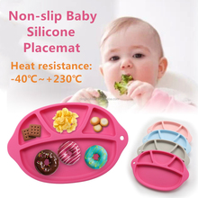 Hot sale Water-proof Baby Silicone dinner plate One-piece Placemats for kids