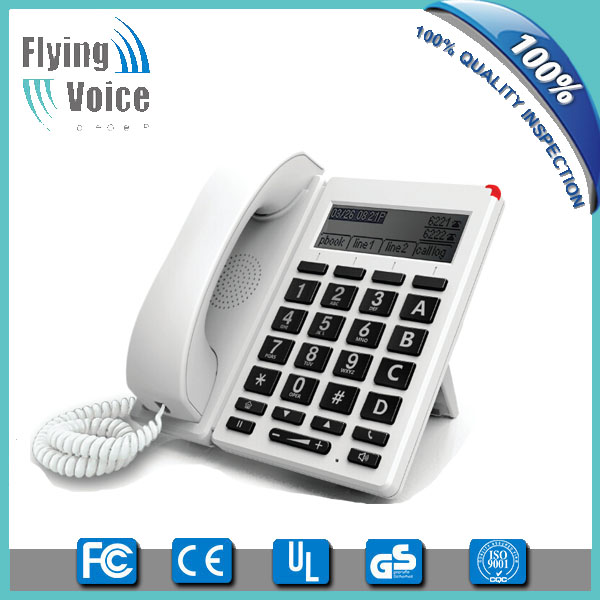 2016 latest style wireless big button hotel sip phone with 1usb port FIP12W for seniors