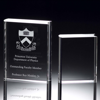 Best sales clear blank crystal book award trophy for engrave