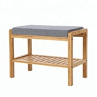 Hot sell Wooden bamboo bench 2-tiler Shoe Rack Modern Design