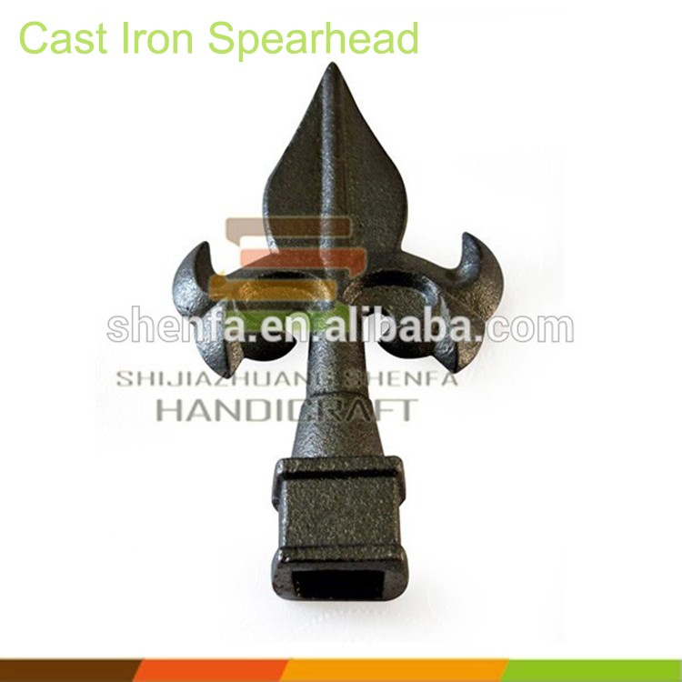 16mm square hole 125*75 mm cast <strong>iron</strong> spear for fence gate