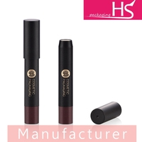 Hot sale plastic matte black promotional cosmetic lipstick shaped pen