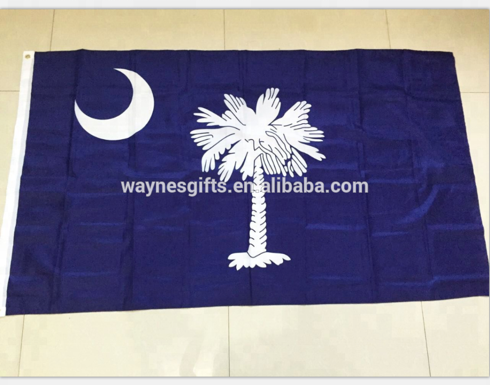 3x5ft 100% polyester banner USA state South Carolina flag