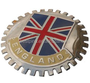 Car Grille Badges England British Auto Club Flag Car Emblem Badge