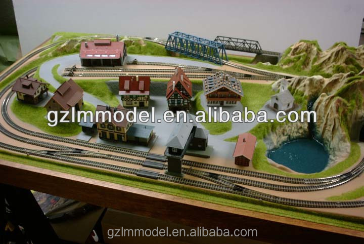 Scale model for HO ,O , OO . G N train railroad layout /railway layout scale model maker