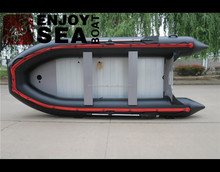 4.70 meter PVC/ Hypalon hull inflatable boat military inflatable rescue boat