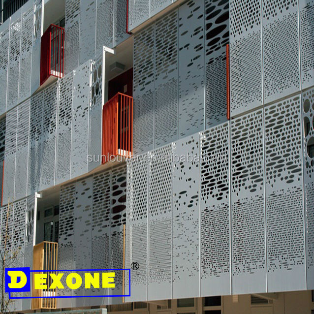 Exterior Construction Aluminum Materials Metal Laser Cutting Perforated Wall Panel Decorative Fence