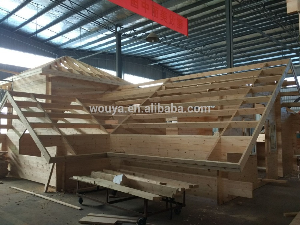 hot sale earthquake proof wood villa ready made prefabricated log home prefabricated wooden house