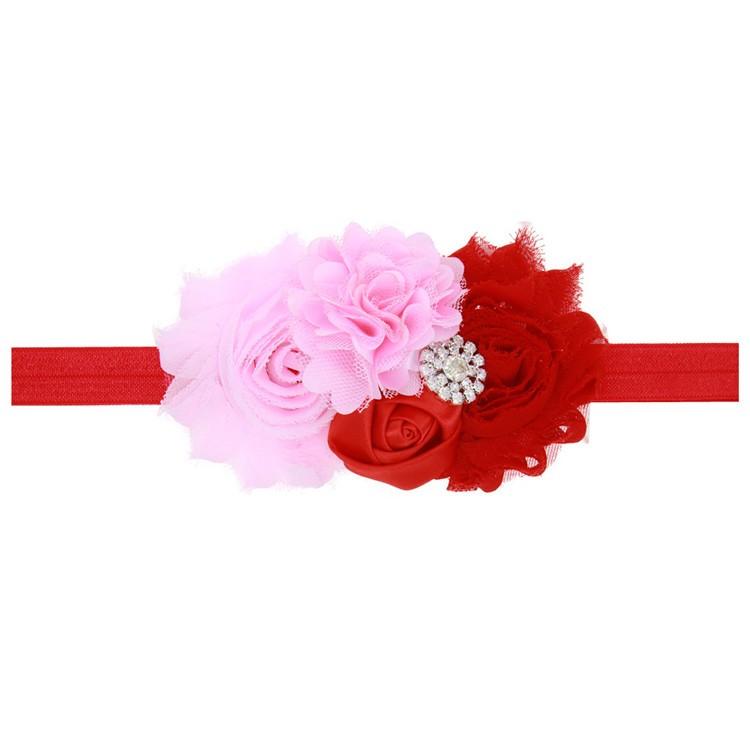 Baby Girl Sunflower Lace Rose Flowers Pearl Rhinestone Hair Band Headband