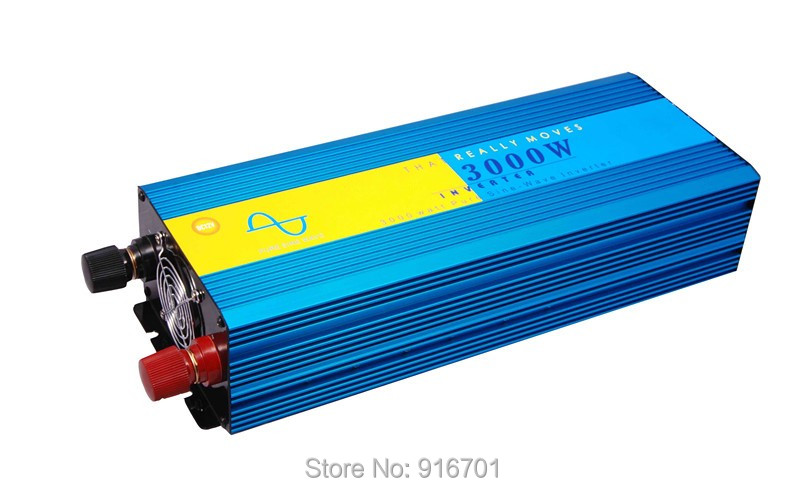 3000W Pure Sine Wave DC 12V to AC 220V Power Inverter