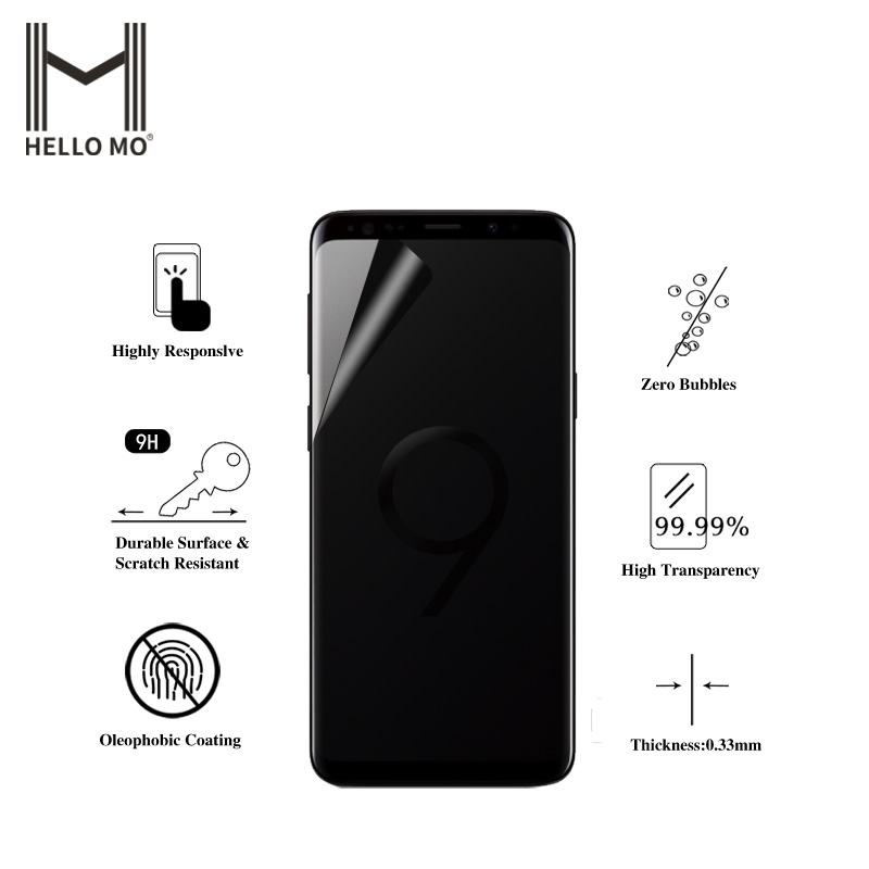 Japan Raw Material Anti Privacy Mobile Phone Screen Protector For Samsung Galaxy S9