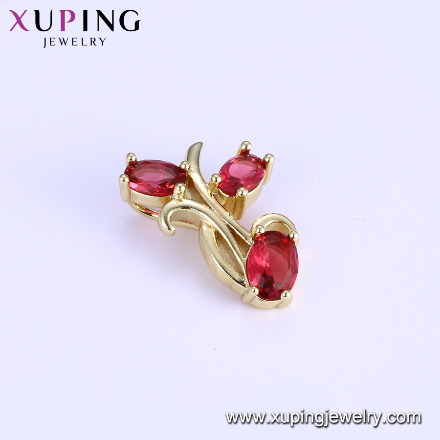 33168 Xuping jewellery in guangzhou, ruby red stone jewelry pendant from china