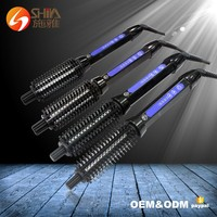 2 in 1 led pro ceramic hair styling straightening curler brush flat iron with comb korea hair brush iron as seen as TV 2016