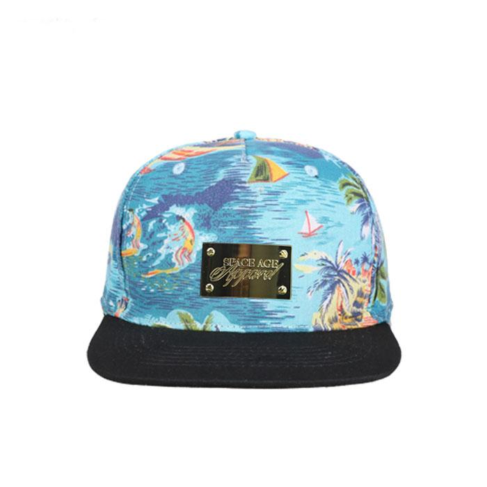 Metal Band Custom Hawaii Floral Printing Snapback Cap Hat - Buy Custom  Snapback,Printing Snapback Cap Hat,Hawaii Floral Snapback Cap Hat Product  on