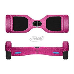 The Stamped Pink Texture Full-Body Wrap Skin Kit for the iiRov HoverBoards and other Scooter (HOVERBOARD NOT INCLUDED)