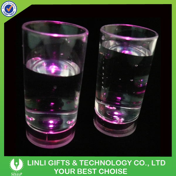 Light Up Shot Cup Glass;Customized Logo Led Flashing Shot Glass/Shaped Shot Glass Party Supply