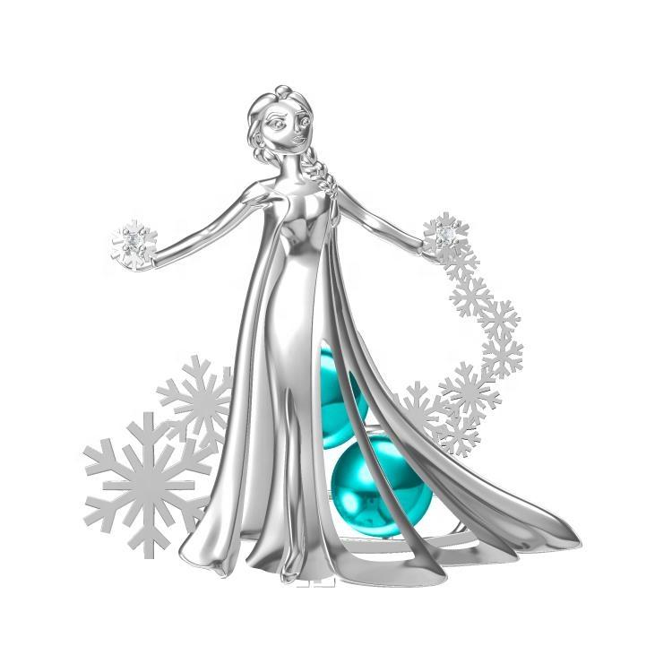 Lilo e stitch in franchising perla gabbie ciondolo in argento