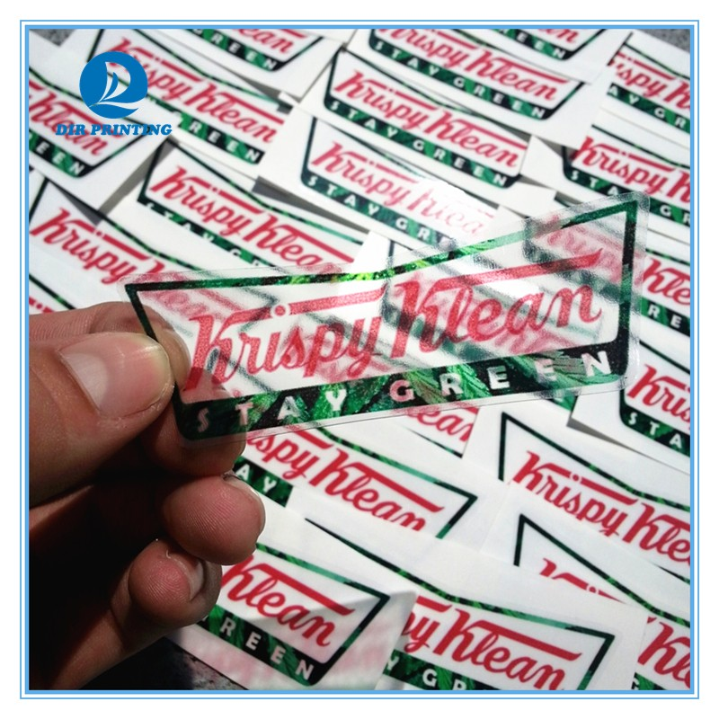 Clear pvc sticker label die cut logo sticker transparent sticker for product sealing
