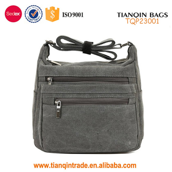 Fashion Man College Student Small Single Side Bags For Teens Boys Cotton  Canvas Shoulder Bag a06cdbe5be261