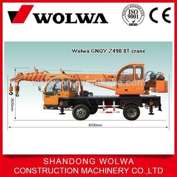 Wolwa 8t Small Crane Direct From China Factory,Hydraulic Crane ...