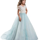 Girls Frozen Party Dress Princess Pageant Girls White Party Dress Kids Prom Ball Gowns Wedding Winter Party Dress For Girls
