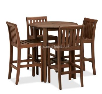 Offre Spéciale Bois Massif Ensemble Extérieur Rond Hauteur Table Et Chaise  Mobilier D\'extérieur,Utiliser Pour Le Bar/café/piscine/mobilier De Jardin -  ...