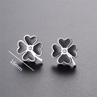 four leaf clover 925 sterling silver earring factory china