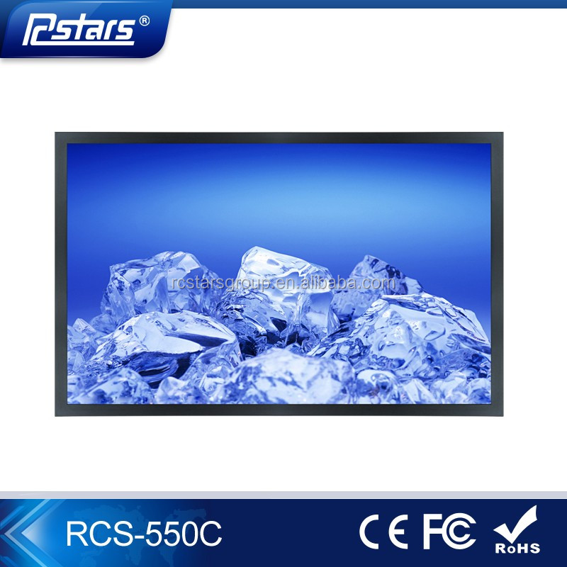 55 inch wall mount indoor lcd advertising screen support SD CF USB playback;commercial ad display;advertisment product