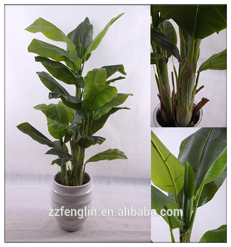 1.5 M Artificial Banana Tree Plant Artificial Indoor Plants ...