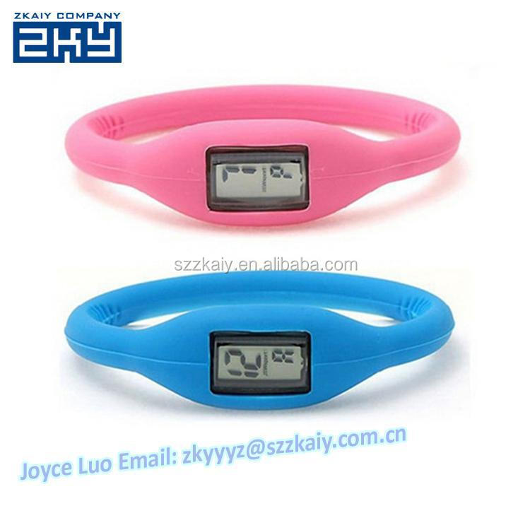 ZKY-0030 1ATM Water resistant Soft Silicone Anion negative FASHION sports Wrist Bracelet Silicone Unisex ion Watch Custom Logo