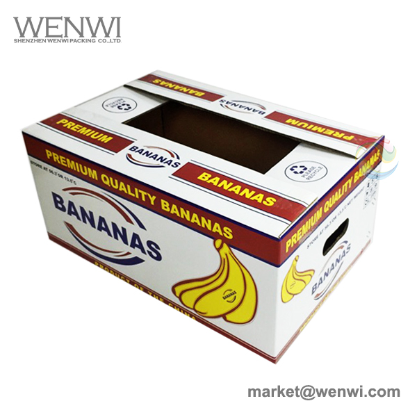 High Quality Custom Standard Size Banana Packing Carton Boxes