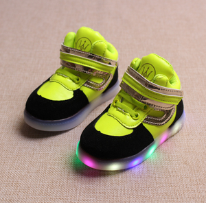 Color Changing Kids Flash Shoes Non-Slipping Solo LED Lights For Shoes 2017