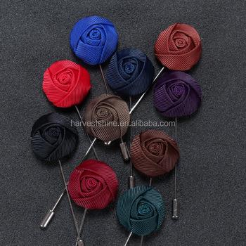 Mens high quality stronger fabric rose flower lapel pinsbrooch mens high quality stronger fabric rose flower lapel pins brooch mens corsage flower mightylinksfo