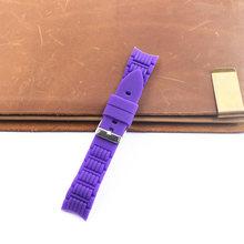 Аксессуары для часов, силиконовый ремешок 20 мм с изогнутым интерфейсом и пряжкой для мужчин и женщин, детские спортивные и брендовые ремешк...(Китай)
