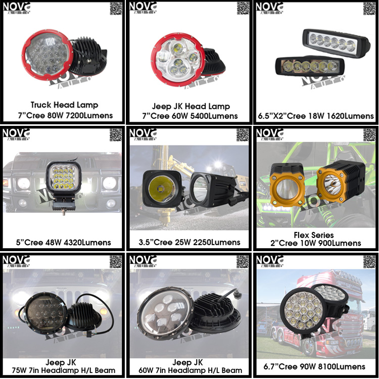Cube Led Headlight Upgrade 10w Led Chip 2 Inch Light For Jeep ...