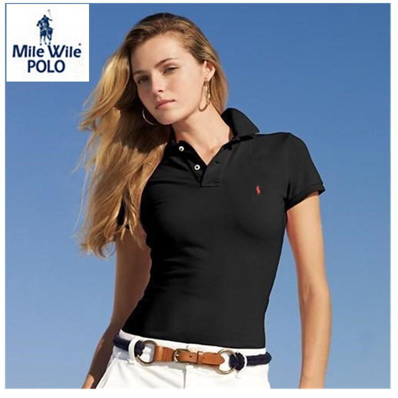 Лето стиль компактный лошадь Logo женщин поло рубашки короткая рукава женщины одежда сплошной поло ralp свободного покроя спорт рубашки