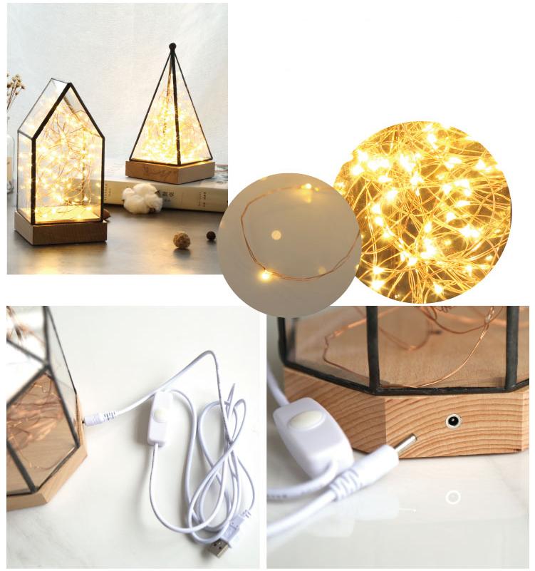 Creative christmas gift house lamp fire tree silver flower LED decorative light night light 7