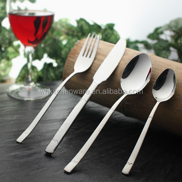 stainless steel 304 spoon and fork, stainless steel 430 knife, flatware