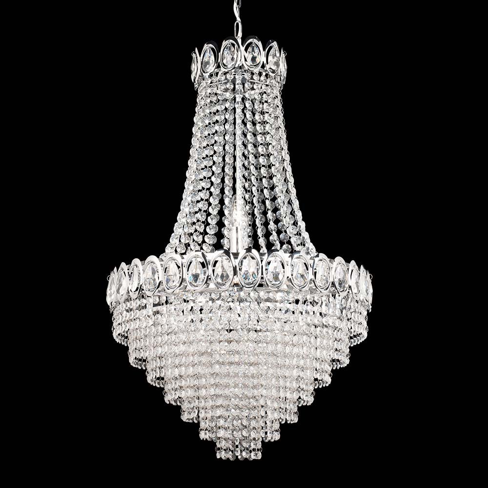 Silver Dining Room Fancy Crystal Hanging Lighting Small Home Lights For Sale